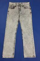 Rock soda jeans uomo usato W34 tg 48 slim gamba dritta vintage boyfriend T4561
