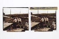 Francia Isola Oléron Ostriche Foto Stereo T2L2n Placca Da Lente Vintage
