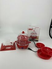 12 Egg Cooker Poacher Scramble Hard Boiled Electric Steamer w/Auto Shut Off Red