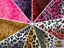 Leopard Velboa Faux Fur Animal Print Fabric / 60