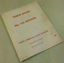 Massey Harris Ferguson No 135 Mower Bar Sickle Parts Book Manual 5 6 7 Ft Cu