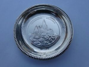 Extremely Rare Norwegian Trondheim St. Olavs Church Silver Pin Tray Magnus Aase!