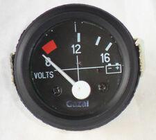 "52MM (2"") Esfera Negra Calibre Coche Universal 8-16 voltios Medidor de reloj 12V"
