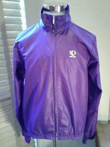 Pearl Izumi Ladies Purple Full Zip Cycling Windreaker Rain Jacket Size L  P10700