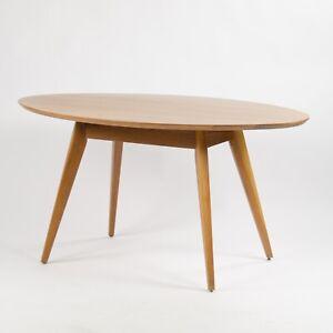 Custom Jens Risom Knoll 56 in Oval Walnut Dining Cafe Table Saarinen Tulip