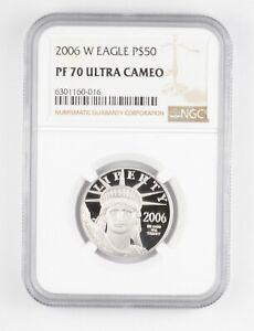 PF70 UCAM 2006-W $50 American Platinum Eagle - 1/2 Oz .999 Platinum - NGC *4936