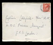 GB KG5 1915 CHRISTMAS DAY POSTMARK THAMES DITTON...HMS PRINCESS MARGARET