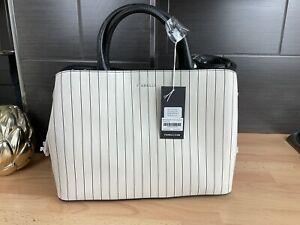 Bnwt £69 Fiorelli Bethnal Striped Mix Triple Compartment Shoulder Bag