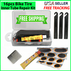 Bicycle Bike Tire INNER TUBE Puncture Repair Kit Patches Glue Levers Tool Set