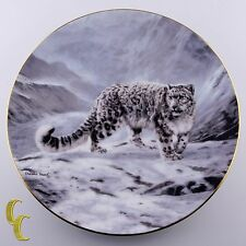 "Bradford Exchange Collector's Plate 1991 ""Fleeting Encounter"" Snow Leopard Frace"