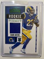 2020 Contenders Cam Akers Green Rookie Ticket Patch - Rams Variation