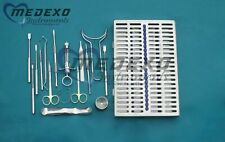 Chin Grafting Kit of 19 Piece Set Surgical Dental Instruments with Sterilization