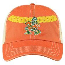"Miami Hurricanes TOW Orange ""Turnover Chain"" Mesh Adj. Hat Cap"