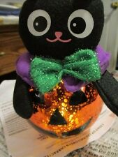 """AVON LIGHT-UP LED HALLOWEEN """"CAT""""CHARACTER 7"""" Tall x 4"""" Wide Frabic & Plastic"""