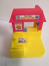HTF Playskool Flat Folks Fast Food Restaurant No Accessories 1990 VGUC