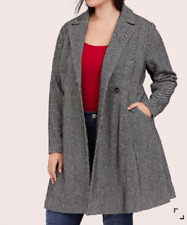 Torrid beautiful Herringbone Fit-n-Flare woolen coat size 3