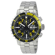 Fortis Marine Master Chronograph Black and Yellow Dial Mens Watch 6712414MG