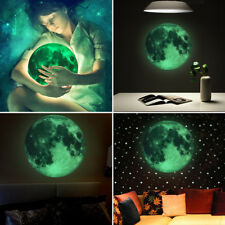 30cm Glow In The Dark Moon Night Light Luminous Wall Art Stickers Bedroom Room