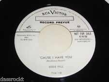 "7"" - Eddie Hill / Smack dab in the middle & Cause i have you - US PROMO # 3740"