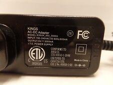 Kings Ac-Dc Adapter Kss24-050-3000U I.T.E Power Supply 100-240Vac 5V 3000mA