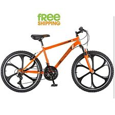 "Mongoose Mountain Style Bike 24"" 21 Speed Boy Shimano Aluminum Wheels Orange New"