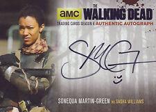 The Walking Dead Season 4/2 Silver Autograph Card SMG2 Sonequa Martin-Green
