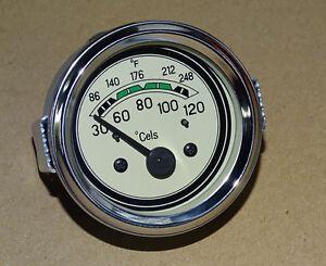 Fernthermometer Ø 60 mm elektrisch 12 Volt für Oldtimer - Traktor oder LKW (06
