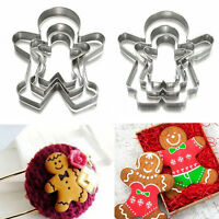 Christmas Ginger Bread MAN WOMAN BOY GIRL Cake Pastry Cookie Biscuit Cutter Y5O