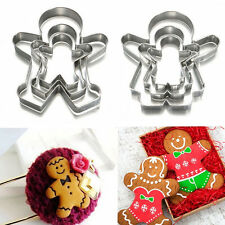Christmas Ginger Bread MAN WOMAN BOY GIRL Cake Pastry Cookie Biscuit Cutter JH