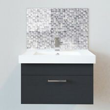 Bathroom Splashbacks - Sink Splashbacks - By Premier Range - Light Grey Mosaic
