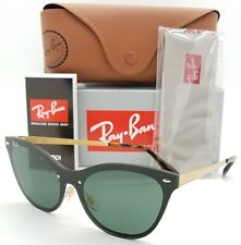 NEW Rayban Blaze Cat Eye sunglasses RB3580N 043/71 43 Black Green AUTHENTIC 3580