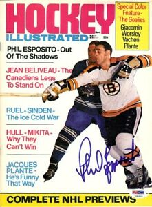 Phil Esposito Autographed Signed Hockey Illustrated Cover Bruins PSA/DNA U93806