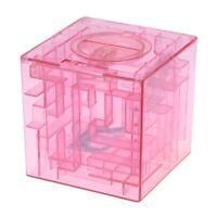 Banco del laberinto de dinero cubico de plastico Caja de coleccion de ahorr Y6F7