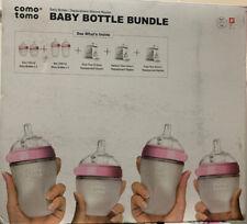 Comotomo Baby Bottle Bundle Gift Set, Pink, Box Damage
