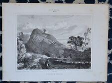 Lithographie XIX ème - Environs de Vaucluse - Jules Laurens