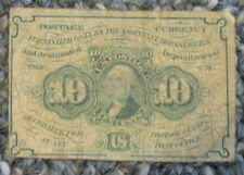 U.S. - Act Approved July 17, 1862 10 Cents Fractional Currency Banknote
