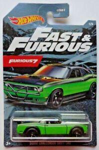 2021 Hot Wheels FAST & FURIOUS Dodge Challenger Drift Car 1/5