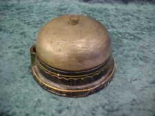 New listing Antique vtg blk w/gold gilt cast iron electric doorbell phone bell ringer buzzer