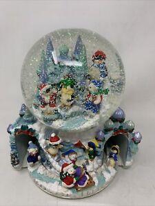 "Vintage Christmas ""Winter Wonderland"" Large Musical Snow Globe w/ Revolving Base"