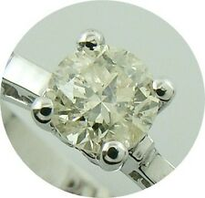 0.52ct solitaire real diamond wedding engagement ring 14k white gold ring