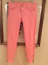 Lilly Pulitzer Women's Worth Skinny Mini Jeans Orange Size 00