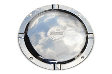 LAMBRETTA SPARE WHEEL COVER INFILL STAINLESS STEEL 4 HOLE