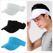 Fashion Visor Sun Plain Hat Sports Cap Golf Tennis Beach Adjustable Mens Womens