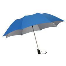 LEIGHTON UMBRELLAS Folding Auto Open UV PROTECTION Collapsible BLUE Wind Proof