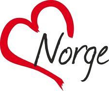 "Auto Aufkleber "" NORGE "" Sticker Norwegen ca.9x11cm konturgeschnitten"