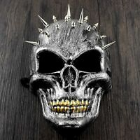 Full Skull Face Steampunk with Spikes Halloween Costume Masquerade Mask Unisex