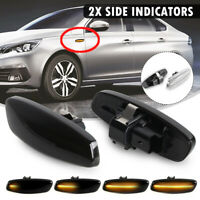 Dynamic LED Side Repeater Indicator Light For Citroen C3 C4 C5 Peugeot    **