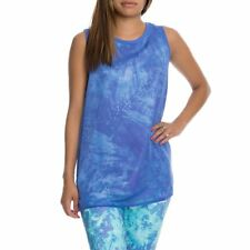 adidas Originals Women Ocean Elements Chiffon Overlay Batik Tank Vest Top XS S M