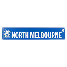 NTH Melbourne tin street sign
