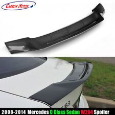 R Style Carbon Fiber Rear Spoiler Trunk Wing for 08-14 Benz W204 C300 & C63 AMG
